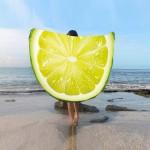 Фото Пляжное покрывало в виде лимона 148*148