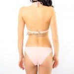 Фото Купальник раздельный, бикини, мягкая чашка свкладышем, бразилиана, розовый 129-222