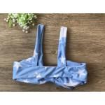 Фото Купальник раздельный бикини мягкая чашка с вкладышем бразилиана голубой 130-88