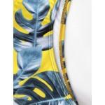 Фото Купальник раздельный бикини мягкая чашка с вкладышем плавки слип жёлтый  129-281