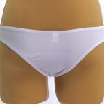 Фото Купальник раздельный мягкая чашка  плавки стринги белый  140-05-2