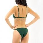 Фото Купальник раздельный бикини мягкая чашка с вкладышем, плавки бразилиана зеленый 139-02-1