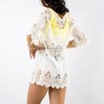 Фото Пляжное платье длинный рукав белая 146-02