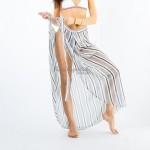 Фото Пляжная юбка длинная полосатая 146-35