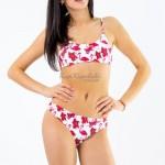 Фото Купальник раздельный бикини мягкая чашка с вкладышем плавки слип фламинго 136-09