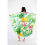 Фото Покрывало пляжное круглое ананасы с цветами 151-10