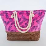 Фото Летняя пляжная сумка яркая розовая в морской тематике 211-02