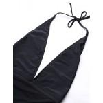 Фото Купальник слитный пландж мягкая чашка плавки слип чёрный+сеточка 125-33