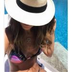 Фото Купальник раздельный бикини мягкая чашка с вкладышем плавки слип бразилиана 154-04