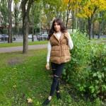 Фото Жилет цвета хаки с поясом 221-07