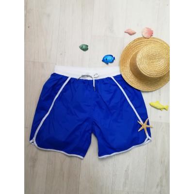 Шорты мужские пляжные длинные синие 163-04-1
