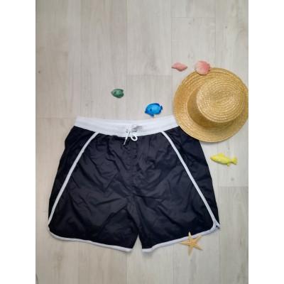 Шорты мужские пляжные длинные чёрные 163-04-2