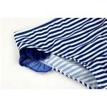 Фото Купальник раздельный детский полосатый синие рюши 160-03