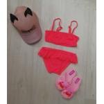 Фото Купальник раздельный для девочки розовый 160-07