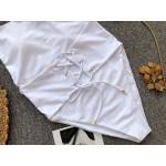 Фото Купальник слитный мягкая чашка с вкладышем белый 135-55-1