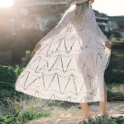 Пляжный халат белый гипюр 146-30-3