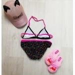 Фото Купальник раздельный детский чёрно-розовый 160-04-1