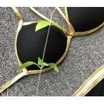 Фото Купальник раздельный бикини чёрный уплотнённая чашка  плавки слип 135-64