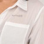 Фото Пляжная туника-рубашка белая 146-51-2
