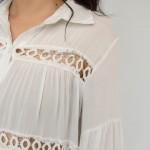 Фото Пляжное платье короткое белое на длинный рукав 146-52