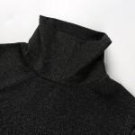 Фото Боди чёрное с люрексом на длинный рукав 170-07