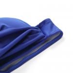 Фото Купальник раздельный бикини синий мягкая чашка с вкладышем плавки бразилиана 129-41
