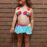 Фото Купальник детский раздельный бирюзовый 161-03