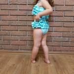 Фото Купальник детский раздельный бирюзовые рюши 161-04