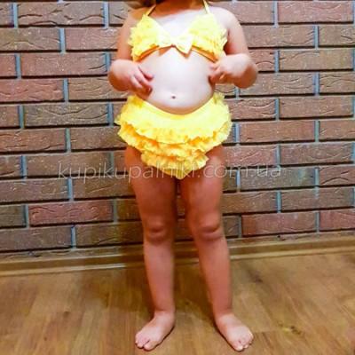Купальник раздельный детский жёлтый 161-05