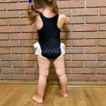 Фото Купальник детский слитный чёрный лебедь 162-03