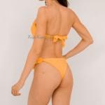 Фото Купальник раздельный бикини  push-up жёлтый  139-18-3