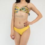 Фото Купальник раздельный цветочный принт жёлтый 181-03
