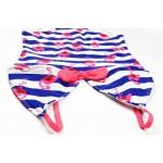 Фото Купальник детский слитный полосатый с фламинго 160-13