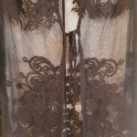 Фото Накидка на купальник чёрная из мягкой сеточки 146-77