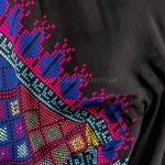 Фото Чёрное длинное платье с вышивкой коттон 405-05