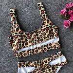 Фото Купальник бикини леопард высокая талия 173-09-1