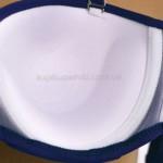 Фото Купальник раздельный синий лиф  полосатые сине-белые плавки Push-Up 700-06
