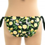 Фото Купальник раздельный черный лиф плавки с лимонами 700-16