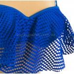 Фото Купальник раздельный синий с воланом на лифе 700-05