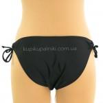Фото Купальник женский раздельный чёрный перекрученный лиф большой Push-Up 600-04
