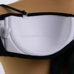 Фото Купальник раздельный черный на косточках фактурная ткань 602-05