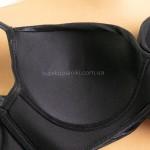 Фото Купальник раздельный черный блестящий на косточках 602-01