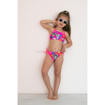 Детский раздельный купальник LOL розовый 602-13