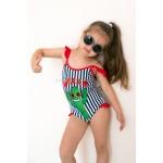 Фото Купальник детский слитный полосатый с кактусом 602-15