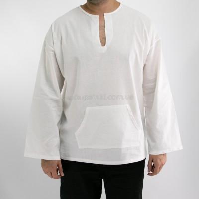 Рубашка пляжная мужская с широкими рукавами 411-05
