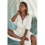 Фото Рубашка-платье на длинный рукав с тонким пояском 405-44