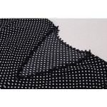 Фото Платье черное летнее легкое в белый горошек oversize 405-47