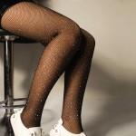 Фото Колготы сеточка черные со стразами 314-04