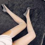 Фото Колготы-чулки сеточка со стразами белые 315-04-1