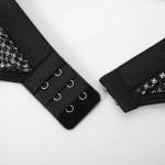 Фото Комплект белья черное кружево лиф плавки подвязки 328-01